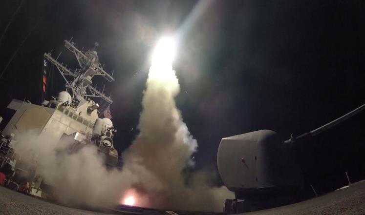 بوارج حربية أميركية توماهوك